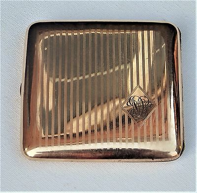 FINE QUALITY EDWARDIAN W & H Co HEAVY GOLD FILLED  CIGARETTE CASE with PATENT