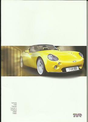 TVR TAMORA,T350,TUSCAN,TUSCAN 'S',CERBERA,T400R AND T440R BROCHURE EARLY 2000's
