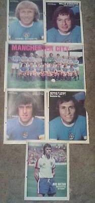 Manchester City 1974-1975 Squad Team Group Photograph & Player Posters