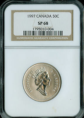 1997 Canada  50 Cents Ngc Sp-68  Pq Spotless  .