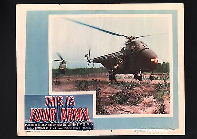 This Is Your Army-1954-Lobby Card #3-Helicopter Vf