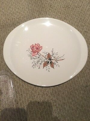 "Canonsburg Pottery Royal Rose Oval Serving Platter 14"" Dura-Gloss Handled"