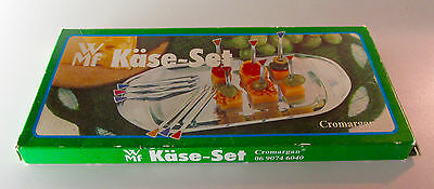 WMF Cromargan Chrome Cheese Board Kase-Set with 12 Multi-Colored Picks