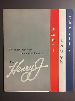 1951 Henry J Showroom Advertising Sales Folder / Brochure RARE!! Awesome L@@K