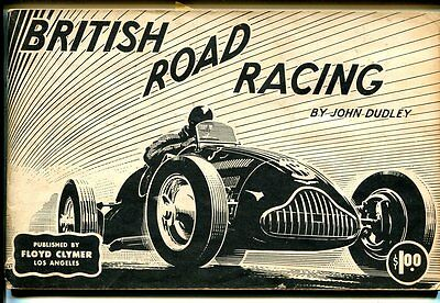 British Road Racing 1950-Floyd Clymer-John Dudley-pix of early race cars-FN