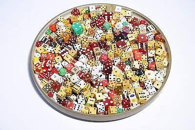 Huge Vintage Dice Collection - Mixed Lot of Bakelite Celluloid Wood etc