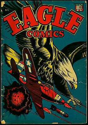Eagle Comics #1 1945- LB Cole P51 Mustang cover- Golden Age G/VG