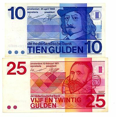 Netherlands ... P-91b, 92a ... 10,25 Gulden ... 1968 ... *VF+*
