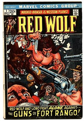 Red Wolf  #1 comic book 1972 marvel comic book first issue avengers