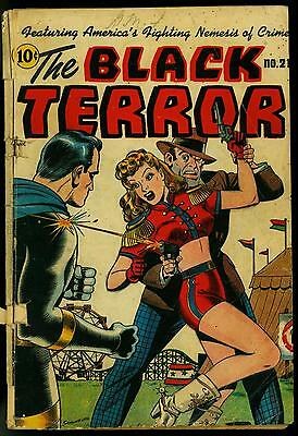 The Black Terror #21 1947- Schomburg cover- Miss Masque cover- G-