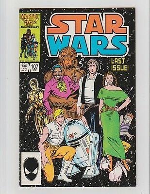Marvel Comics Star Wars #107 Last Issue F+/F-Comic Book HQ Scans