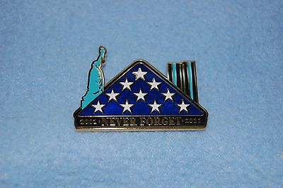 """2001-2011 """"NEVER FORGET"""" Lapel Pin By Symbol Arts New"""