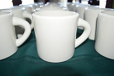 Vintage Coffee Mugs Restaurant Style Ware Heavy Cups Diner Mug Lot Set 6 white