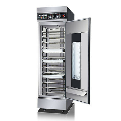 13 Trays Dough Heater Proofer Cabinet 220V Commercial Bread Pastry Food Warmer