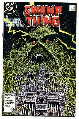 SWAMP THING #52 comic book 1986-ARKHAM ASYLUM COVER-1986