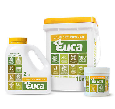 Euca Laundry Washing Powder - Natural - NOW 2, 10 & 12KG - CHEAPEST ANYWHERE!