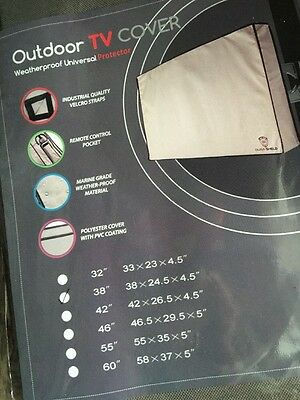 """Outdoor TV Cover Weatherproof Universal Protector for 37""""-38'' LED, LCD, PLASMA"""