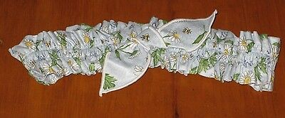 Longaberger May Series Daisy Medium Md Tie Fabric Basket Garter Euc Usa ~ Floral