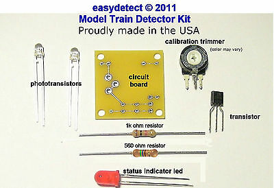 S Scale Bi-Directional Model Train Detector Kit For Crossing Flashers & More