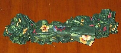 Longaberger Emerald Vine Green Medium Bow Fabric Basket Garter Euc Usa