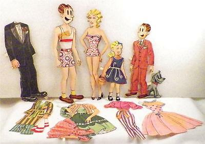 Vintage Blondie Dagwood Bumstead Paper Dolls & Clothes As Is Condition