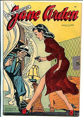 Crime Reporter Jane Arden #2 1947-St John-Pageant of Comics-Good Girl Art-VG/FN