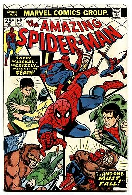 AMAZING SPIDER-MAN #140 comic book -MARVEL COMICS-GRIZZLY-very fine-high grade