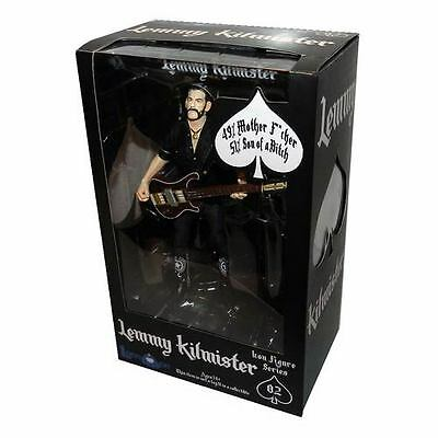"Motorhead Lemmy Kilmister 6"" Action Figure w/ Bass, Strap, Mic and Stand"