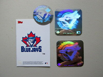 LOT of (4) MLB Toronto Blue Jays Holographic Sticker -- Decals