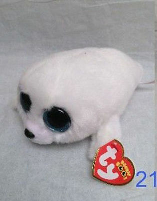 """NEW ICY The White Seal 6"""" Plush Beanie Boos Toy Doll TY"""