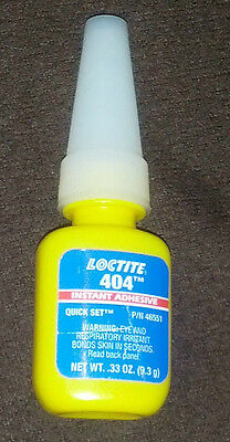Loctite 404 - Quick Set - Instant Adhesive - Net Weight .33 Oz