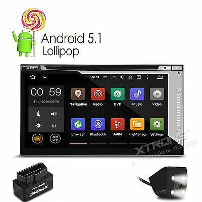 2 DIN Quad Core Android 5.1 Car DVD Player GPS SAT NAV Stereo DAB+ with Camera