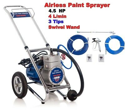 3 HP 4000  PSI NEW AIRLESS PAINT SPRAYER SPRAY GUN+1 x 600mm wand 5/15 /17/ 19