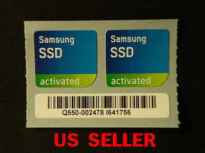2pcs Samsung SSD activated Sticker For PC    20 X 19mm