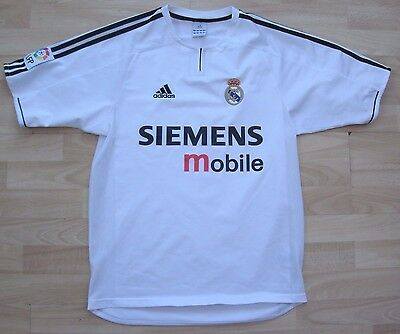REAL MADRID 2003-2004 HOME adidas FOOTBALL SOCCER SHIRT JERSEY TOP SMALL ADULT