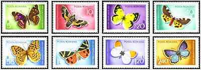 Timbres Papillons Roumanie 2468/75 ** lot 17527