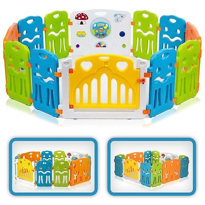 Baby Playpen Plastic Play Pen Foldable Portable Room Divider Child Barrier New