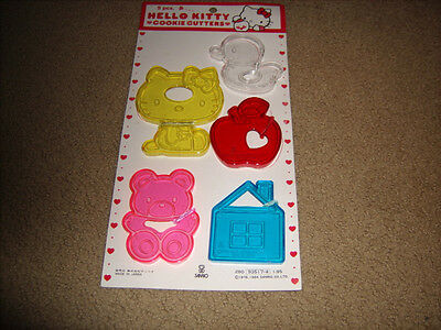 Vintage HELLO KITTY Sanrio Cookie Cutter Set of 5 1984 Made in Japan NEW