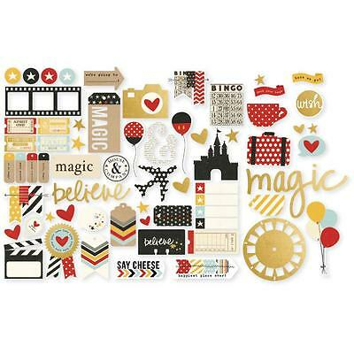 Say Cheese 2 Diecuts Simple Stories Bits & Pieces Die Cuts Disney Inspired