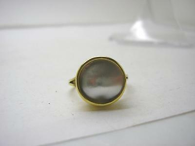Georgian 18ct Gold Mabe Pearl Ring size N