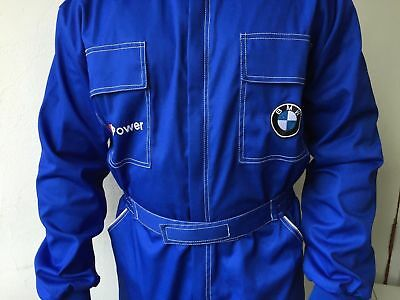 Quality Embroidered Mens Overall Coverall Sport Auto Mechanic BMW MPower
