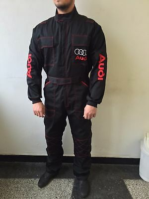 Quality Embroidered Mens Overall Coverall Sport Auto Mechanic Audi