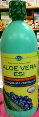 Aloe Vera Esi Puro Succo 100%- Mirtillo - 1000 Ml - Alta Qualita'