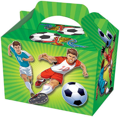 12 Football Boys Children Kids Party Bags Food Carry Boxes Birthday Favour