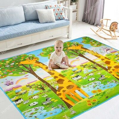 Soft Large Crawl Mat Baby Kid Toddler Playmat Waterproof 2 Side Play Game Carpet