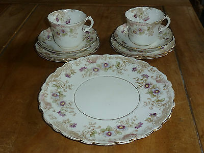 Queens victorian china - Tea for Two Set - beautiful florals xxx