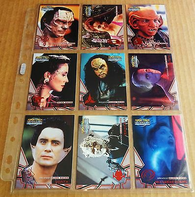 Star Trek Deep Space Nine Trading Cards; Set Of 9  Alien Races Chase Cards