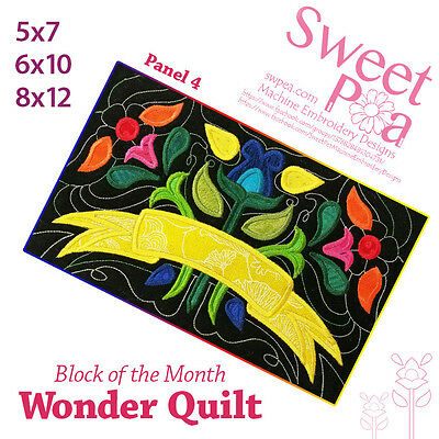 Machine Embroidery Pattern BOM Block of the month wonder quilt block 4