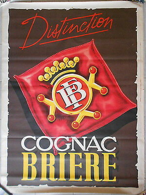 COGNAC BRIERE Distinction CHAIGNON Charente-Maritime ORIGINAL Affiche Litho 20's