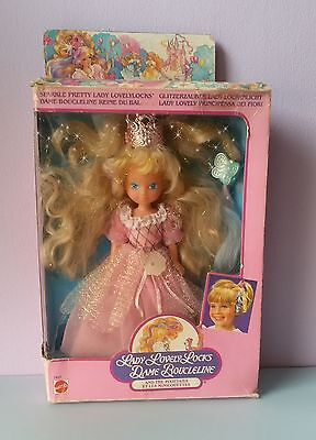LADY LOVELY LOCKS SPARKLE PRETTY doll-Boucleline Lockenlicht with box-used-read